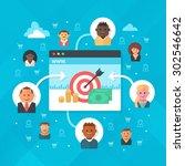 attracting customers to online... | Shutterstock .eps vector #302546642
