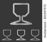 silver line wine glass logo...