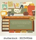 vintage web design elements  5  | Shutterstock .eps vector #302549066