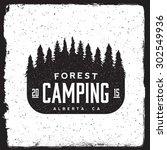 Camping Vintage Emblem....