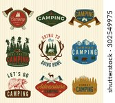 vector set of camping vintage...