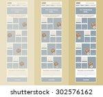 responsive newsletter template... | Shutterstock .eps vector #302576162