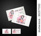 creative business card design... | Shutterstock .eps vector #302577332