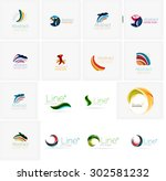 set of abstract wavy elements....   Shutterstock .eps vector #302581232