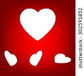 heart icon set. isometric... | Shutterstock . vector #302591852