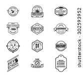 back to school badges logos and ... | Shutterstock .eps vector #302593952