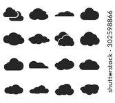 cloud shapes set  cloud logo...
