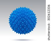 Abstract Blue Vector Sphere...