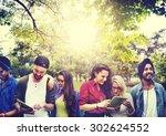 talking brainstorming... | Shutterstock . vector #302624552
