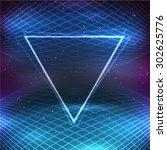 retro futuristic background in... | Shutterstock .eps vector #302625776