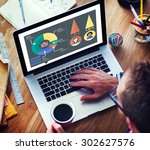 analysis analytic marketing... | Shutterstock . vector #302627576