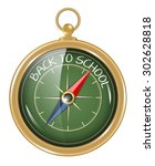 compass and back to school as...   Shutterstock .eps vector #302628818