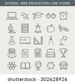 back to school. collection of... | Shutterstock .eps vector #302628926