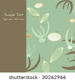 vector floral greetings card... | Shutterstock .eps vector #30262966