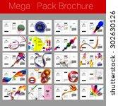 mega pack brochure design... | Shutterstock .eps vector #302630126