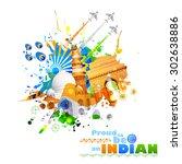 illustration of india... | Shutterstock .eps vector #302638886