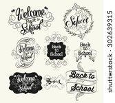 back to school labels....   Shutterstock .eps vector #302639315