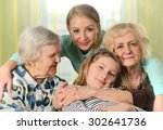 four generations of women.... | Shutterstock . vector #302641736
