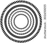 decorative circular frames | Shutterstock .eps vector #302650055