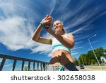 fitness  sport  people ... | Shutterstock . vector #302658038