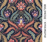 vintage flowers seamless ...   Shutterstock .eps vector #302667308