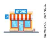 store facade. vector... | Shutterstock .eps vector #302670266