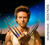 Small photo of BANGKOK -JULY 22: A waxwork of Wolverine on display at Madame Tussauds on July 22, 2015 in Bangkok, Thailand. Madame Tussauds' newest branch hosts waxworks of numerous stars and celebrities