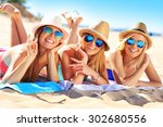 a picture of a group of friends ... | Shutterstock . vector #302680556