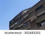 modern residential building... | Shutterstock . vector #302683202