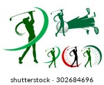 Lady Golfer Icons Golf Icon Logo