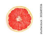 dried old grapefruit cut in... | Shutterstock . vector #302685536