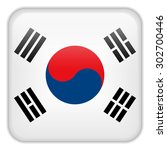vector   south korea flag... | Shutterstock .eps vector #302700446