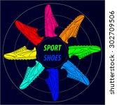 sport shoes. vector illustration | Shutterstock .eps vector #302709506