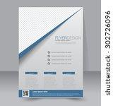 flyer template. business... | Shutterstock .eps vector #302726096