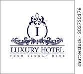 luxury logo template in vector... | Shutterstock .eps vector #302730176