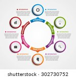 modern infographics options... | Shutterstock .eps vector #302730752