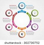 modern infographics options... | Shutterstock .eps vector #302730752