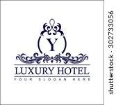 luxury logo template in vector... | Shutterstock .eps vector #302733056