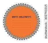 halloween card template | Shutterstock .eps vector #302741015