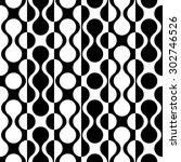 seamless curved shape pattern.... | Shutterstock .eps vector #302746526
