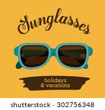 holidays and vacations digital... | Shutterstock .eps vector #302756348
