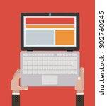 byod digital design  vector... | Shutterstock .eps vector #302760245