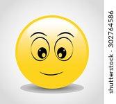 emoticon icon design  vector... | Shutterstock .eps vector #302764586