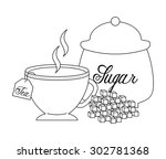 delicious tea design  vector... | Shutterstock .eps vector #302781368
