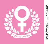 breast cancer design  vector... | Shutterstock .eps vector #302784305