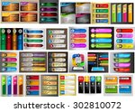 colorful modern text box... | Shutterstock .eps vector #302810072