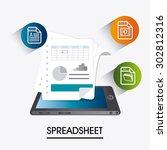 spreadsheet digital design ... | Shutterstock .eps vector #302812316