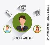 social media design  vector... | Shutterstock .eps vector #302813618