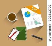 spreadsheet digital design ...   Shutterstock .eps vector #302813702