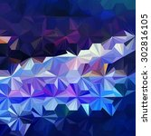 low polygon triangle pattern... | Shutterstock . vector #302816105